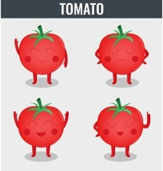 Tomato Funny cartoon vegetables Organic food vector