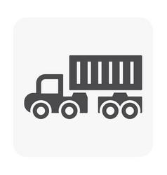 trailer icon black vector image