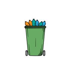 trash bin hand drawn clipart icon vector image