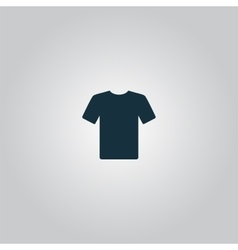 Tshirt Icon Flat design vector image