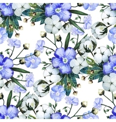 Watercolor linen and cotton pattern vector