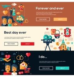 Wedding services website header banner headers vector