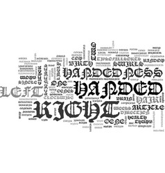 Why are we left or right handed text word cloud vector