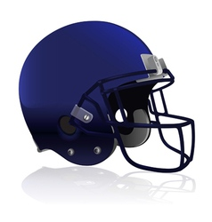 American football helmet isolated vector