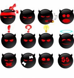 devil's smiles set two vector image vector image