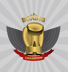 golden Glove boxing cup boxing Emblem team and vector image vector image