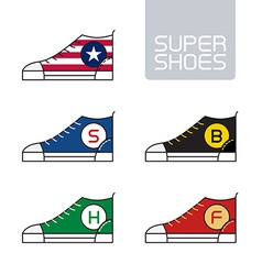 Outline urban super shoes Stylized sneakers Sport vector image vector image
