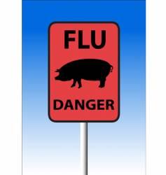 swine flu sign vector image vector image