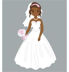 African American Bride vector image vector image