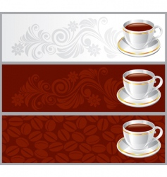 cup of coffee background vector image