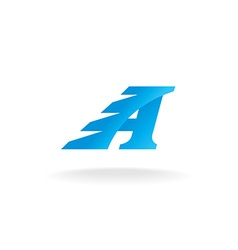 Letter A logo vector image vector image