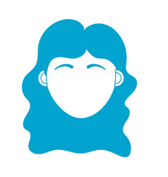 silhouette woman head with closed eyes and vector image