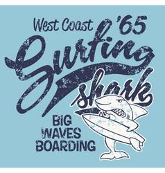 Surfing Shark vector image vector image