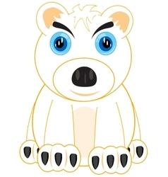 Animal polar bear vector image vector image