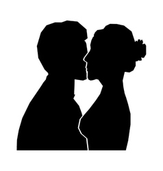 Bride and groom icon image vector
