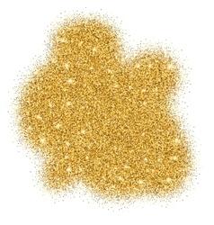 Gold glitter bright vector image vector image