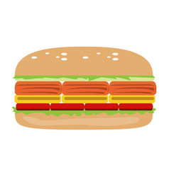 isolated sandwich vector image