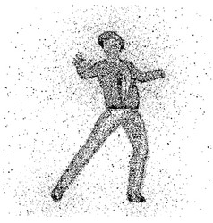 male figure made with dots vector image vector image