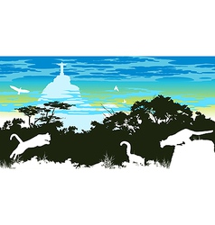 Wild panthers in the jump in Brazil vector image vector image