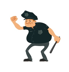 Angry police officer vector image