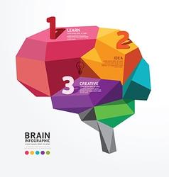 infographic Brain Design Conceptual vector image vector image