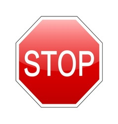 stop sign red vector image