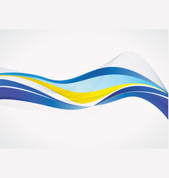 sweden abstract flag background vector image vector image