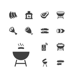 13 grill icons vector