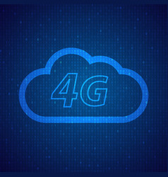 4g speed wireless mobile cloud network vector
