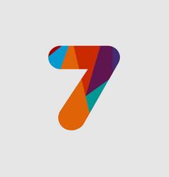 7 diamond font template design vector
