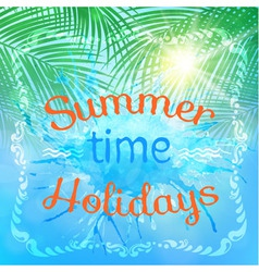 abstract summer background with an inscription vector image