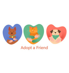 adopt a friend abstract concept vector image