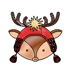 Animal reindeer cartoon vector