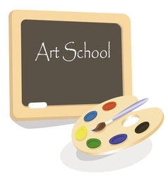 art school emblem vector image