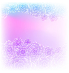beautiful purple pink rose flower background vector image