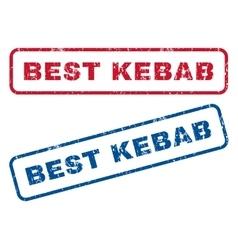 Best Kebab Rubber Stamps vector