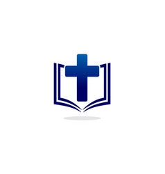 Book christian logo vector