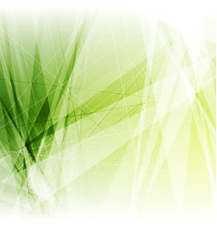 bright green geometric shapes tech background vector image