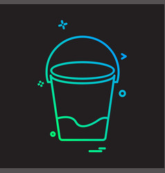 bucket icon design vector image