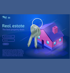 Bunch of keys and a house apartment and flat vector