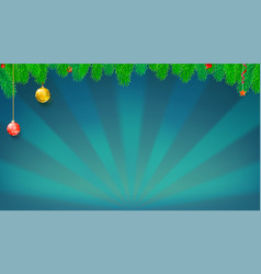 Christmas and new year banner with green fir vector