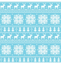 Christmas nordic seamless pattern - deer vector image