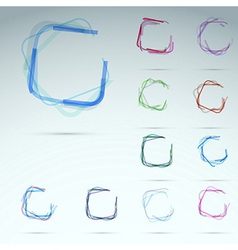 Collection of transparent web elements vector image