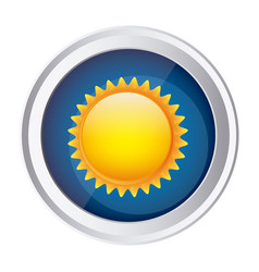 Color circular frame and blue background with sun vector