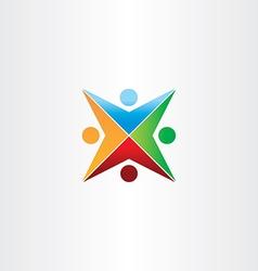 Color people star symbol vector
