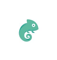 creative small chameleon logo vector image