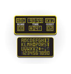 digital score board for sport information vector image