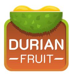 Durian fruit logo cartoon style vector