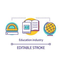 Education industry concept icon school subject vector