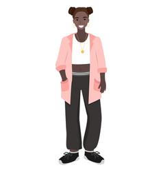 Elegant teenager wearing stylish clothes teenage vector